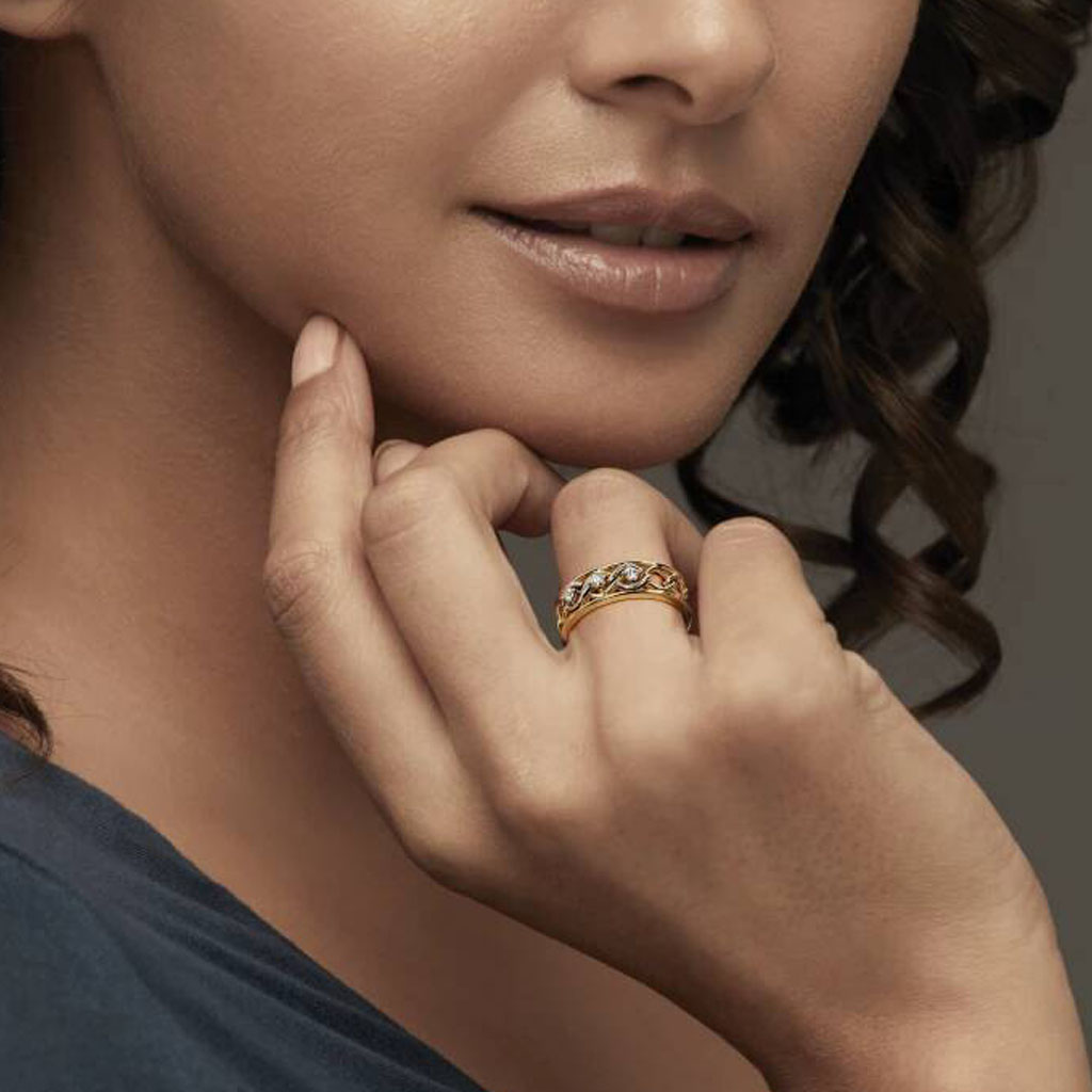 Tristone Double Color Two Soul Couple Bands From Bluestone Jewellery
