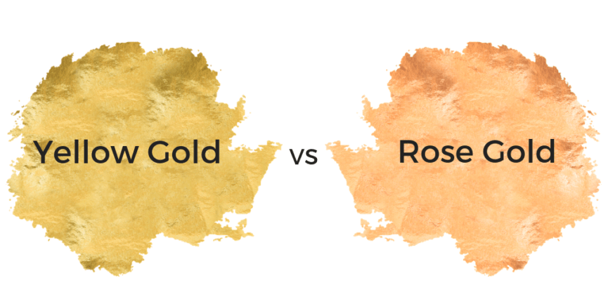 Yellow Gold Vs Rose Gold vs white gold