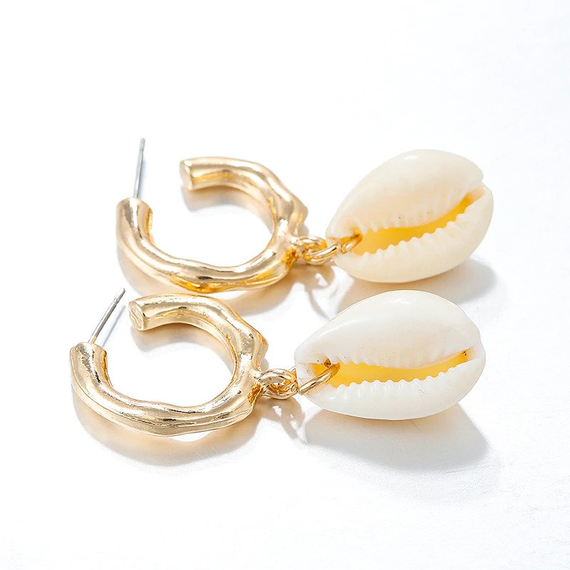 Cute Irregular Jewellery Shell Dangle Drop Earrings For Women 1