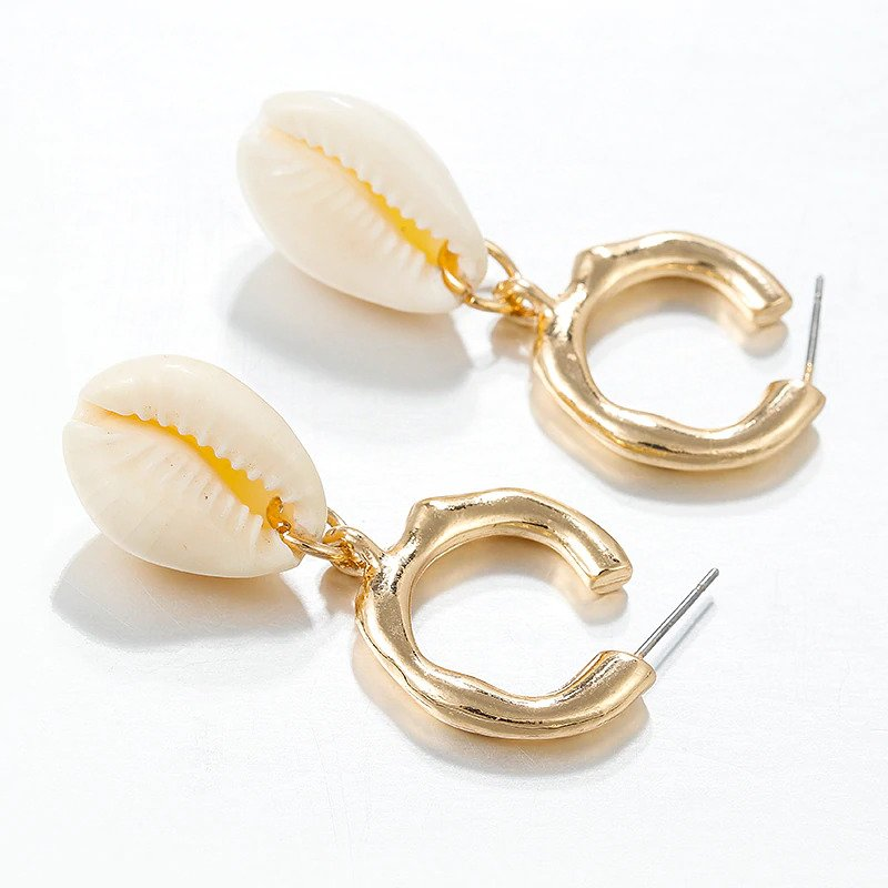 Cute Irregular Jewellery Shell Dangle Drop Earrings For Women