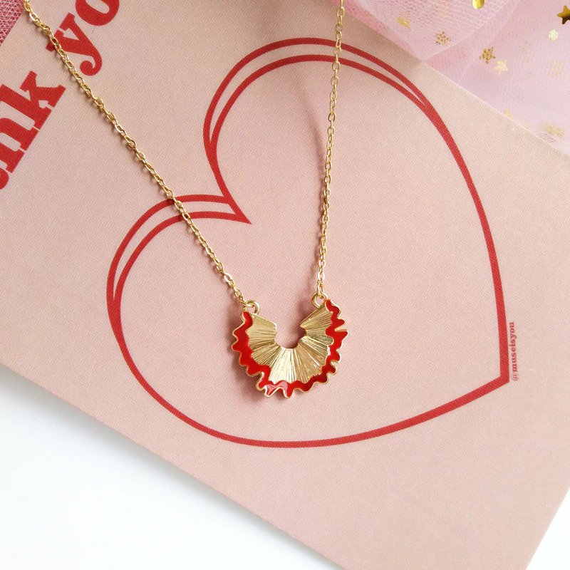 Fashion Alloy Geometry Pencil Scraps Red Chain Pendant