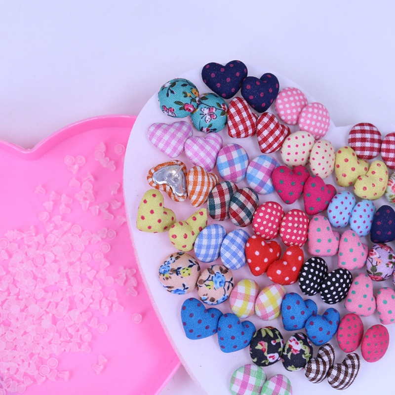 Gemsfly Cotton Heart Round Multi Stud Earrings 36 Pairs 1