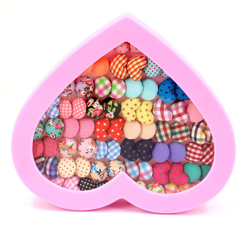 Gemsfly Cotton Heart Round Multi Stud Earrings 36 Pairs 2