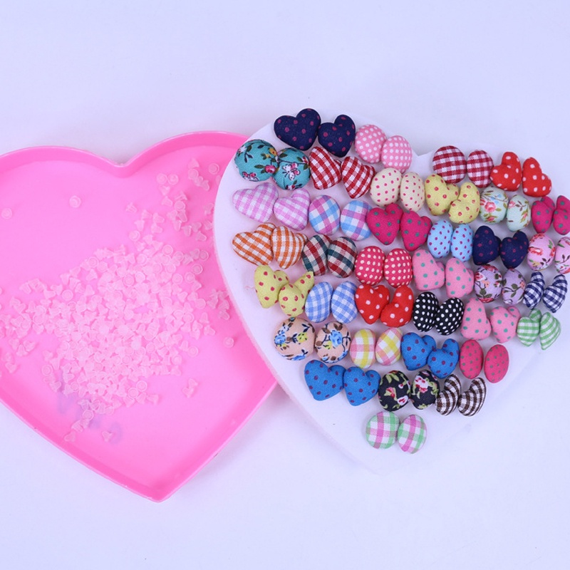 Gemsfly Cotton Heart Round Multi Stud Earrings 36 Pairs 4
